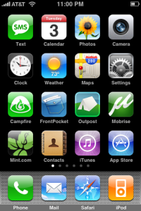 My iPhone Homepage